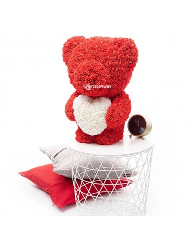 Red Rose Teddy Bear 60 CM – 24 Inch – Ovi Rose Bears - Rose Teddy Bears - Flower Teddy Bears - Teddyway