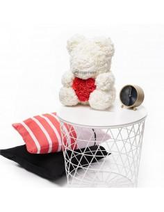 White Rose Teddy Bear 45 CM – 18 Inch – Oti Rose Bears - Rose Teddy Bears - Flower Teddy Bears