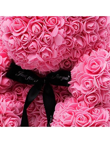 Pink Rose Bunny 40 CM – 16 Inch – Oki Rose Bears - Rose Teddy Bears - Flower Teddy Bears