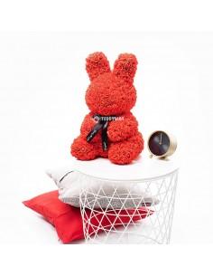 Red Rose Bunny 40 CM – 16 Inch – Oki Rose Bears - Rose Teddy Bears - Flower Teddy Bears