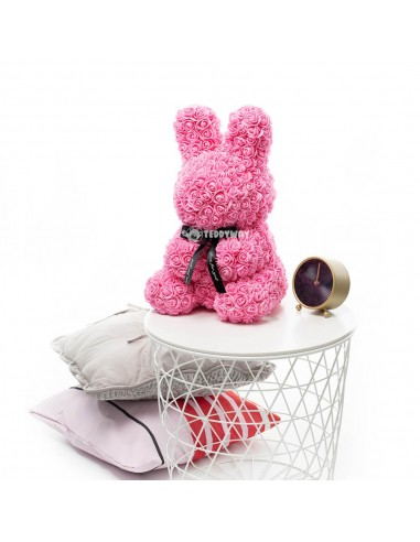 Pink Rose Bunny 40 CM – 16 Inch – Oki Rose Bears - Rose Teddy Bears - Flower Teddy Bears