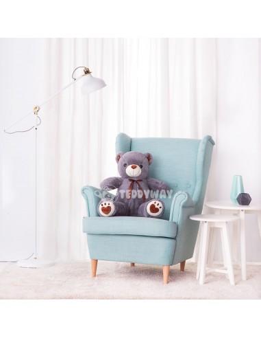 Grey Giant Teddy Bear 100 CM – 39 Inch – ToTo Giant Teddy Bears - Big Teddy Bears - Huge Stuffed Bears - Teddyway