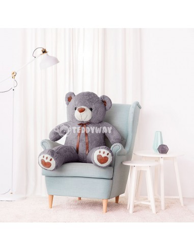 Grey Giant Teddy Bear 130 CM – 51 Inch – ToTo Giant Teddy Bears - Big Teddy Bears - Huge Stuffed Bears