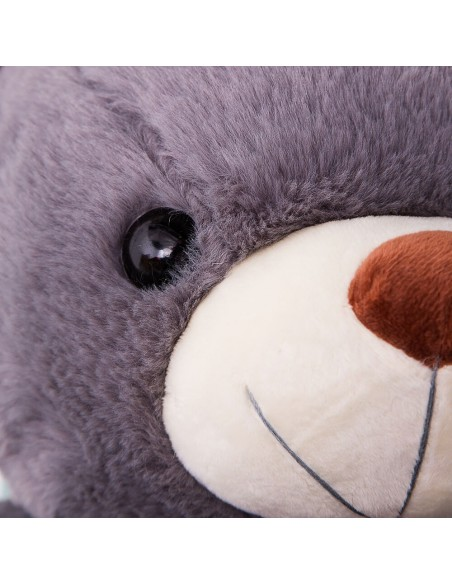 Grey Giant Teddy Bear 130 CM – 51 Inch – ToTo Giant Teddy Bears - Big Teddy Bears - Huge Stuffed Bears - Teddyway