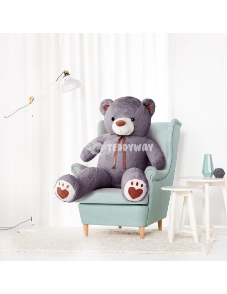 Grey Giant Teddy Bear 160 CM – 63 Inch – ToTo Giant Teddy Bears - Big Teddy Bears - Huge Stuffed Bears