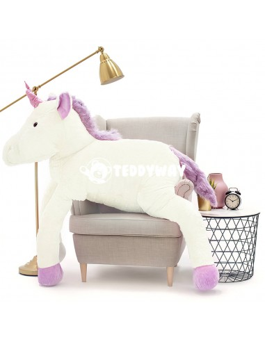 White Giant Plush Unicorn – 190 Cm – 74 Inch – SoSo Giant Stuffed Unicorns - Big Plush Unicorn - Huge Soft Unicorn Toy