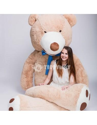 Light Beige Giant Teddy Bear 340 CM – 133 Inch – BoBo Giant Teddy Bears - Big Teddy Bears - Huge Stuffed Bears - Teddyway