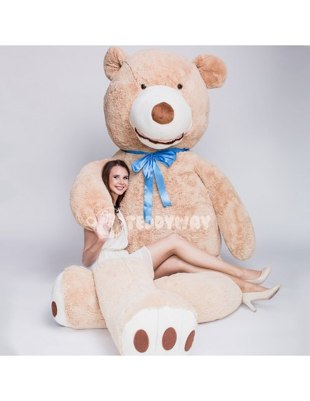 Light Beige Giant Teddy Bear 340 CM – 133 Inch – BoBo Giant Teddy Bears - Big Teddy Bears - Huge Stuffed Bears