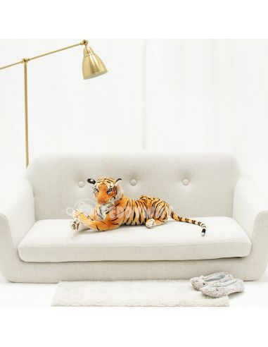 Giant Plush Tiger – 70 Cm – 27 Inch – TiGo Giant Stuffed Tigers - Big Plush Tigers - Huge Soft Tigers Toys - Teddyway
