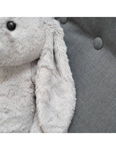 Grey Giant Stuffed Bunny Toy 50 CM – 19 Inch – Bani Giant Stuffed Bunnies - Big Plush Bunny - Huge Soft Rabbits Toys - Teddyway