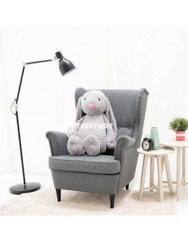 Grey Giant Stuffed Bunny Toy 100 CM – 39 Inch – Bani Giant Stuffed Bunnies - Big Plush Bunny - Huge Soft Rabbits Toys - Teddyway