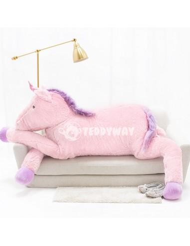 Pink Giant Plush Unicorn – 220 Cm – 86 Inch – SoSo Giant Stuffed Unicorns - Big Plush Unicorn - Huge Soft Unicorn Toy - Teddyway