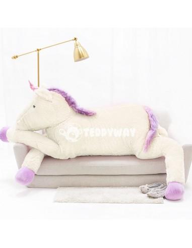 White Giant Plush Unicorn – 220 Cm – 86 Inch – SoSo Giant Stuffed Unicorns - Big Plush Unicorn - Huge Soft Unicorn Toy - Tedd...