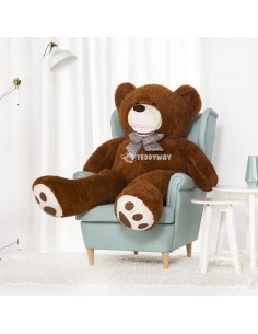 Dark Brown Giant Teddy Bear 160 CM – 63 Inch – BoBo Giant Teddy Bears - Big Teddy Bears - Huge Stuffed Bears