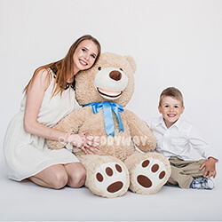 Huge Giant Teddy Bear - Huge Big Teddy Bears 130 CM - TEDDYWAY