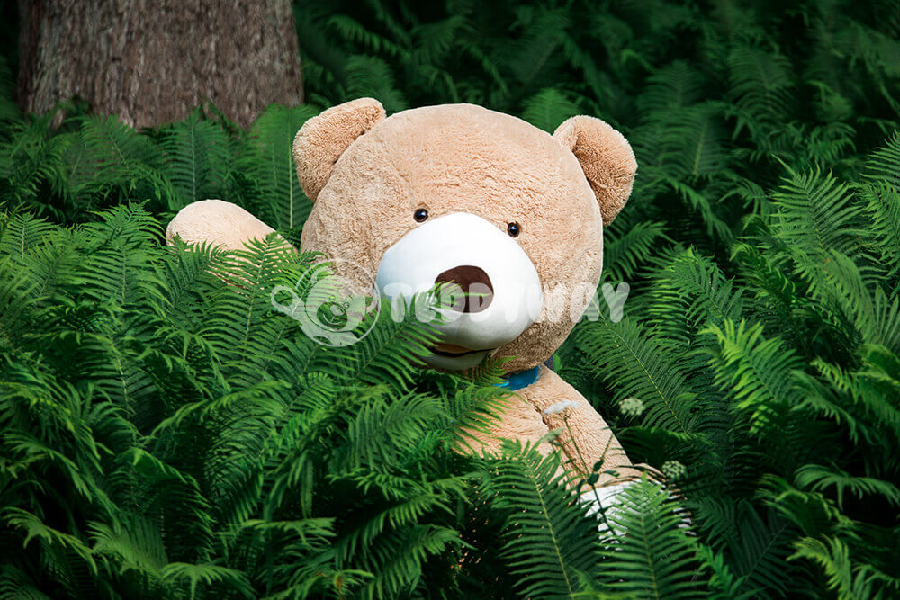Giant teddy bear in jungle - TeddyWay