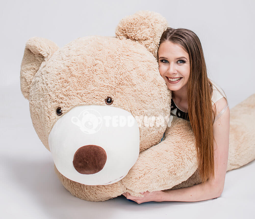3ft A Tiny Teddy Named Cuds Brown Giant Teddy Bear Kids/' Plush Toy by Joyfay